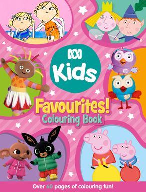 Cover image - ABC KIDS Favourites! Colouring Book (Pink)