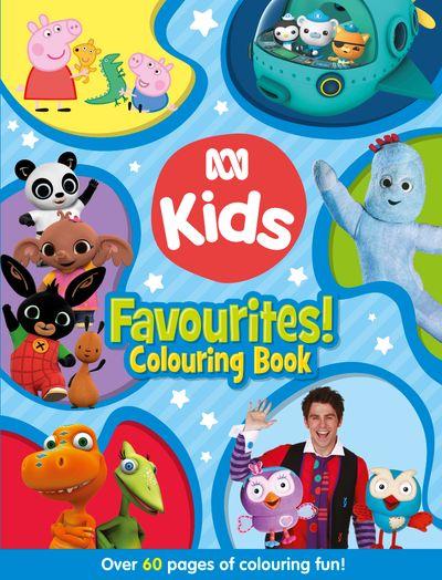 ABC KIDS Favourites! Colouring Book (Blue)