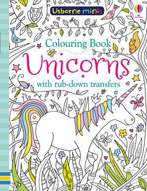 Picture of Mini Books Colouring Book Unicorns with Rub-Down Transfers