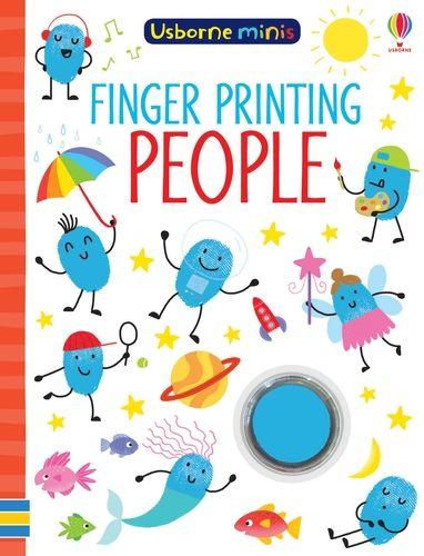 Mini Books Finger Painting People
