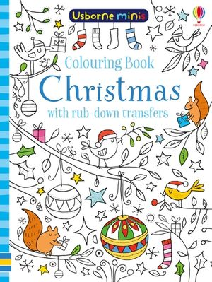 Picture of Mini Books Colouring Book Christmas with Rub-Downs