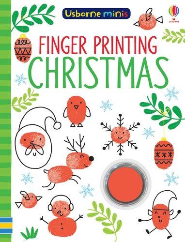 Mini Books Finger Printing Christmas