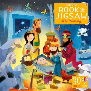 Cover image - Usborne Book and Jigsaw: The Nativity