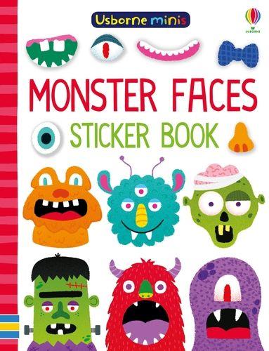 Mini Books Monster Faces Sticker Book