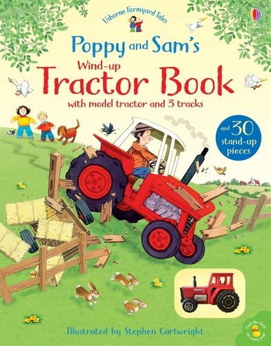 Farmyard Tales Poppy and Sam's Wind-Up Tractor Book