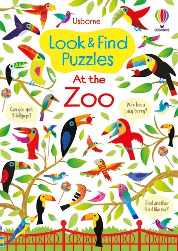 Look and Find Puzzles: At the Zoo