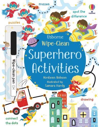Wipe-Clean Superhero Activities