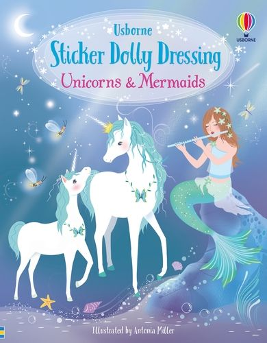 Sticker Dolly Dressing Unicorns and Mermaids