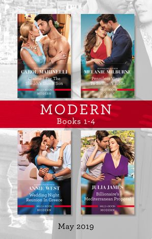 Modern Box Set 1-4/Claimed for the Sheikh's Shock Son/Penniless Virgin to Sicilian's Bride/Wedding Night Reunion in Greece/Billionaire's Medit