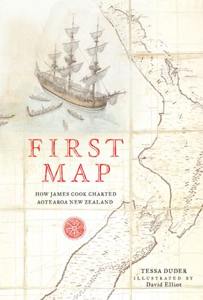 Cover image - First Map: How James Cook Charted Aotearoa New Zealand