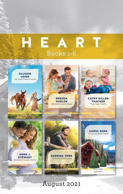 Heart Box Set Aug 2021/The Horse Trainer's Secret/The Chef's Surprise Baby/Their Texas Triplets/Building a Surprise Family/Accidental Homecom
