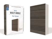 NIV, Holy Bible for Boys, Soft Touch Edition, Leathersoft, Gray, Comfort Print