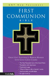 GNT, First Communion Bible: New Testament, Leathersoft, Black