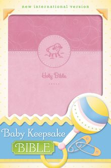 NIV, Baby Keepsake Bible, Leathersoft, Pink