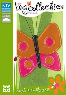 NIV, The Bug Collection Bible: Butterfly, Leathersoft, Green/Multicolor