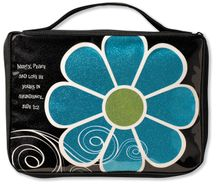 Mod Flower Sparkle Blue Medium