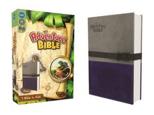 NIV, Adventure Bible, Leathersoft, Gray/Blue, Full Color