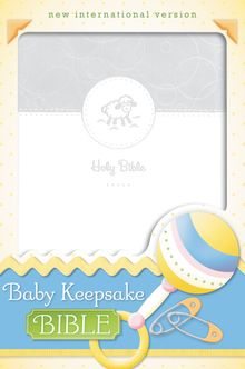 NIV, Baby Keepsake Bible, Leathersoft, White