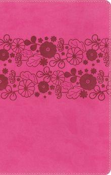 NIrV, Holy Bible, Large Print, Leathersoft, Pink