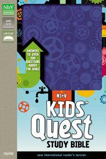 NIrV, Kids' Quest Study Bible, Leathersoft, Blue
