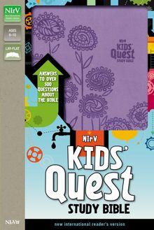 NIrV, Kids' Quest Study Bible, Leathersoft, Purple