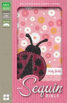 NIrV, Sequin Bible, Leathersoft, Pink