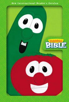 NIrV, VeggieTales Bible, Leathersoft, Green/Red