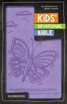 NIrV, Kids' Devotional Bible, Leathersoft, Lavender