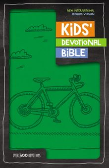 NIrV, Kids' Devotional Bible, Leathersoft, Green