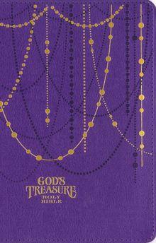 NIV, God's Treasure Holy Bible, Leathersoft, Amethyst