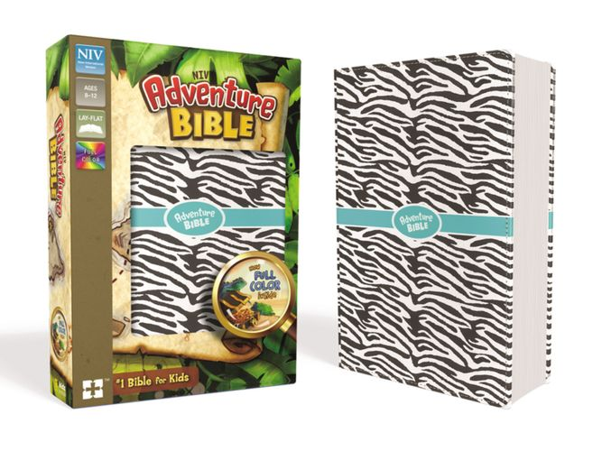 NIV, Adventure Bible, Leathersoft, Zebra Print, Full Color Interior