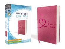NIV Bible for Kids, Leathersoft, Pink, Red Letter Edition, Comfort Print