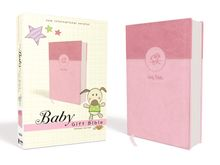 NIV, Baby Gift Bible, Holy Bible, Leathersoft, Pink, Red Letter Edition, Comfort Print