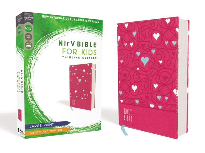 NIrV, Bible for Kids, Large Print, Leathersoft, Pink, Comfort Print