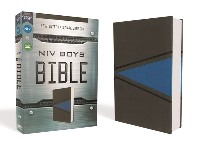 NIV, Boys' Bible, Leathersoft, Gray/Blue, Comfort Print