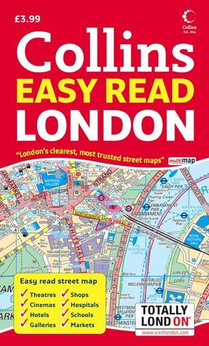Easy London Map.London Easy Read Map By No Author Harpercollins