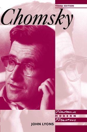 Chomsky Paperback  by John Lyons