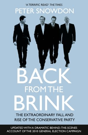 Back from the Brink Paperback  by Peter Snowdon