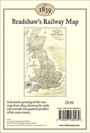 Bradshaw's Railway Map 1839: Wall Map