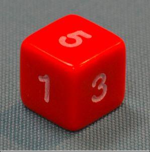 Dice - Numbers 1 - 6 (Mini Flashcards Language Games)