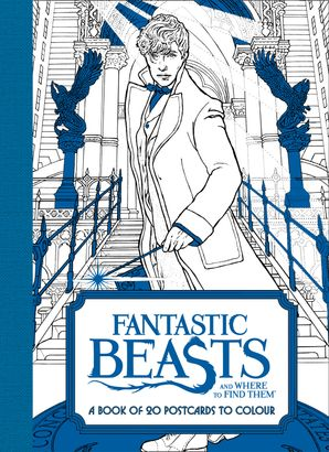 Fantastic Beasts and Where to Find Them: A Book of 20 Postcards to Colour Paperback  by No Author