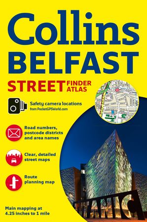 Collins Belfast Streetfinder Colour Atlas Paperback New edition by