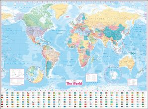Collins World Wall Laminated Map  New edition by No Author