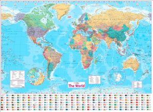 Collins World Wall Paper Map  New edition by No Author