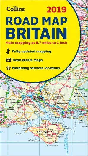 Map Of England For Ks1.2019 Collins Map Of Britain By No Author Harpercollins