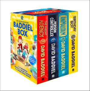 The Blockbuster Baddiel Box (The Person Controller, The Parent Agency, AniMalcolm, Birthday Boy) Paperback  by David Baddiel
