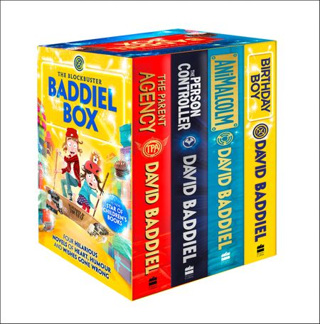 The Blockbuster Baddiel Box (The Person Controller, The Parent Agency, AniMalcolm, Birthday Boy) - David Baddiel, Illustrated by Jim Field