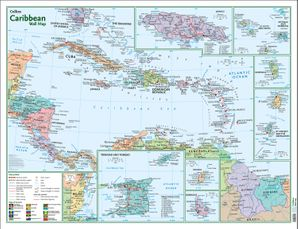 Caribbean Wall Map   by No Author