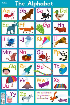 Alphabet (Collins Children's Poster)   by Steve Evans