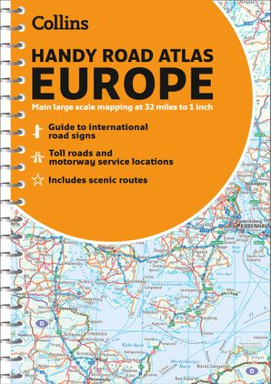 Road Atlas Europe 2021 Handy: A5 Spiral (Collins Road Atlas) Spiral bound Sixth edition by No Author